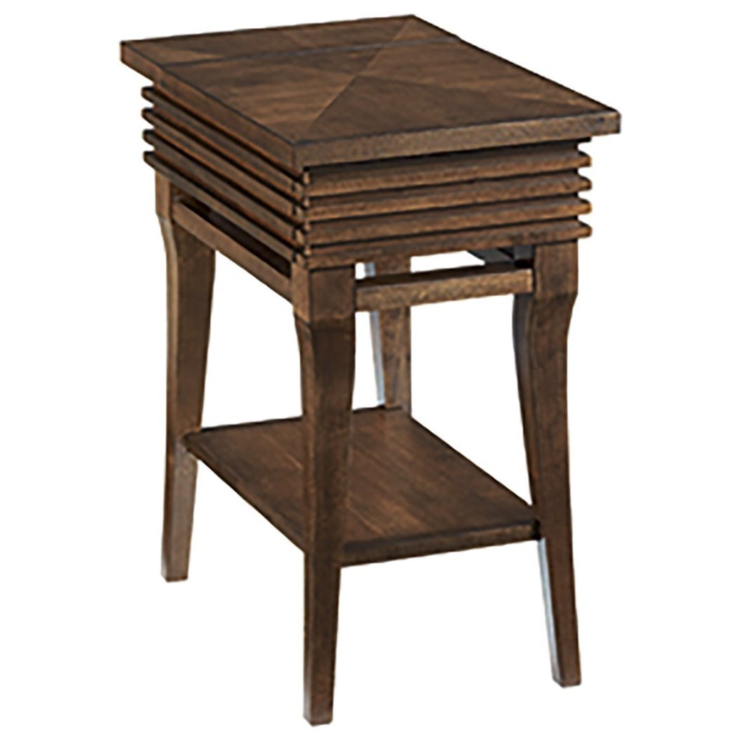 Hammary Groovy Charging Chairside Table with Shelf and