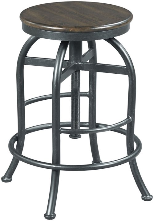 Hammary Hidden Treasures Adjustable Height Pub Stool Wayside Furniture Bar Stools