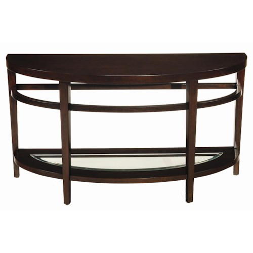 Hammary urbana demilune sofa table jordan 39 s home for Table urbana but