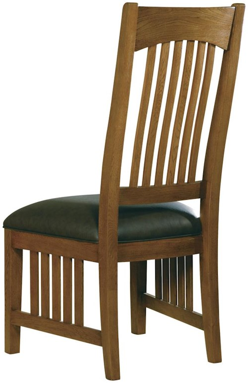 Hekman arts and crafts dining side chair boulevard home for Arts and crafts dining room furniture
