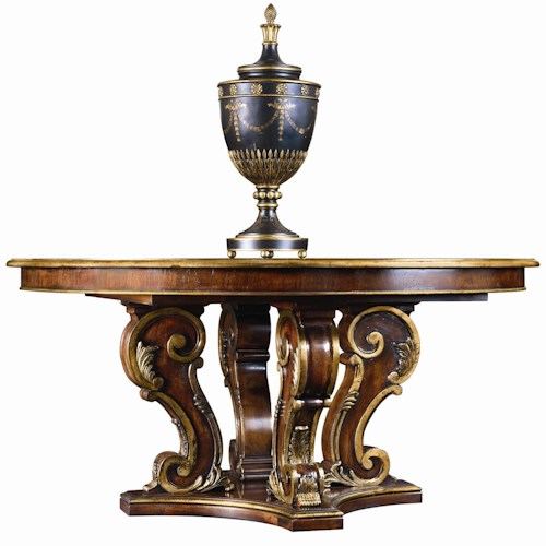 Henredon arabesque round pedestal dining table sprintz for Dining table nashville tn