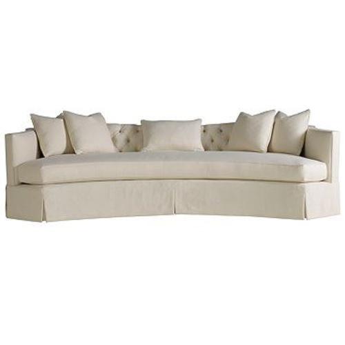 Henredon Celerie Kemble Serpentine Sofa with Throw Pillows - Adcock Furniture - Conversation ...