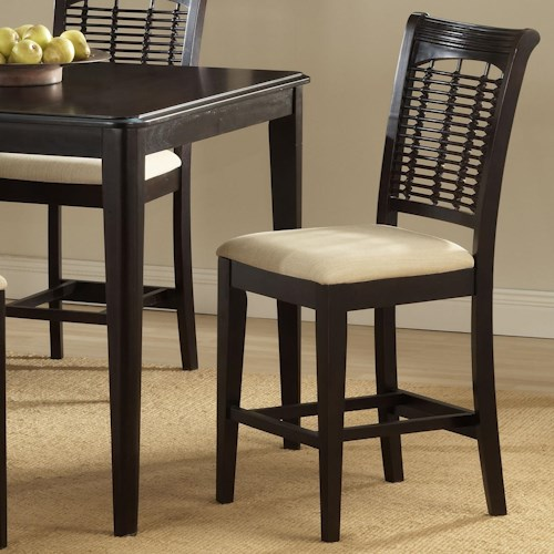Hillsdale bayberry and glenmary non swivel counter stool for Non traditional dining room chairs