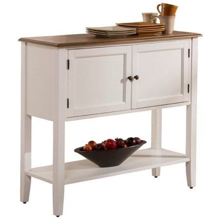 Two-Toned Dining Server with Display Shelf