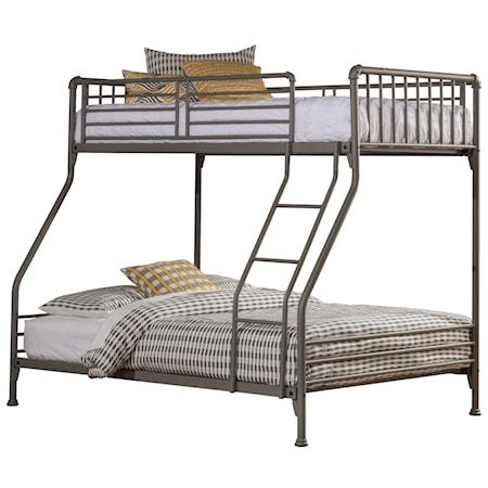 Simple Metal Twin/Full Bunk Bed