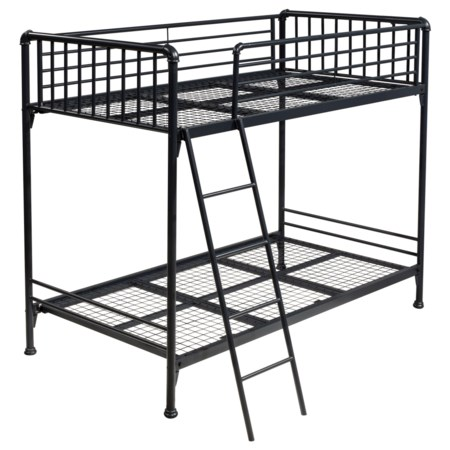 Simple Metal Twin/Twin Bunk Bed