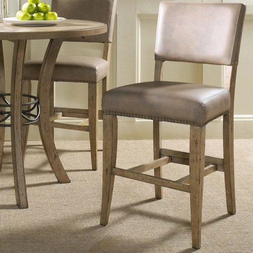 Hillsdale charleston parson non swivel stool wayside for Non traditional dining room chairs
