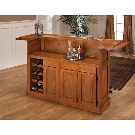 Large Oak Bar