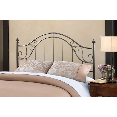 Hillsdale clayton headboard king w rails godby home for Bedroom furniture indianapolis