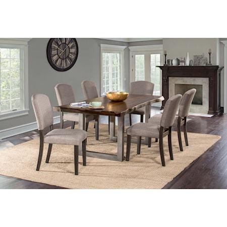 7-Piece Rectangle Dining Set with Sheesham Wood