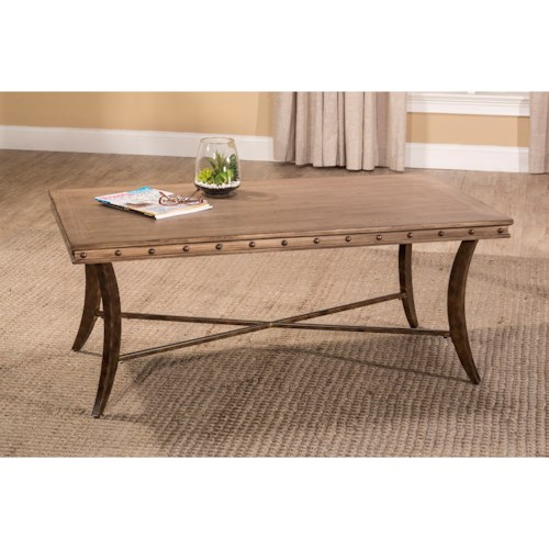 Hillsdale emmons coffee table with stud detailing for Coffee table with studs
