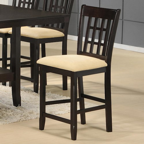 Hillsdale tabacon non swivel counter stool with neutral for Non traditional dining room chairs