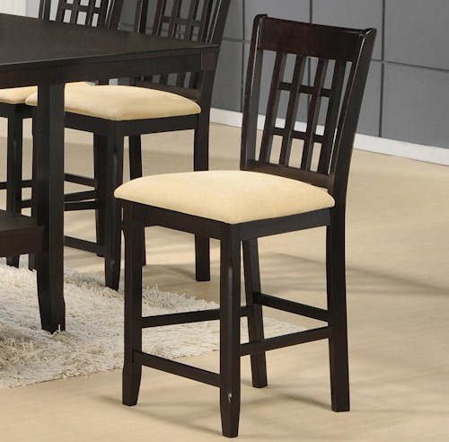 Tabacon Non Swivel Counter Stool With Neutral Faux Suede Seat Rotmans Bar Stool Worcester