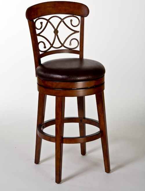 Wood Stools Bergamo Swivel Counter Stool With Scrollwork Rotmans Bar Stools Worcester