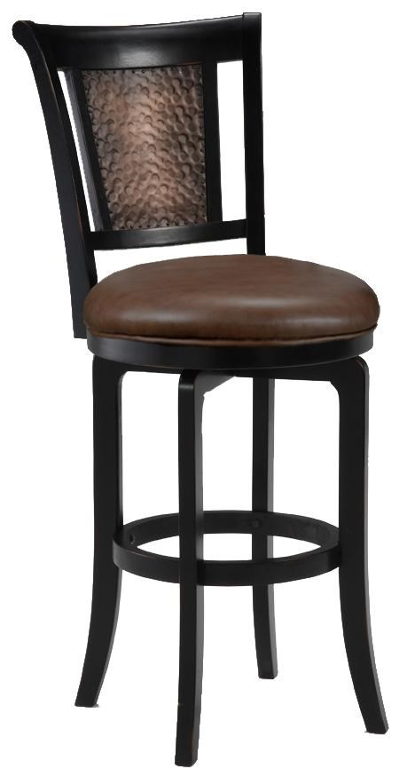 Hillsdale Wood Stools 30 Quot Bar Height Cecily Swivel Stool