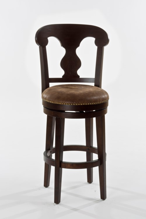 Hillsdale Wood Stools Wooden Swiveling Bar Height Stool