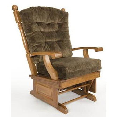 Holland house glider rockers oak glider rocker with tufted for Furniture 0 down