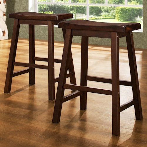 Homelegance 5302 24 Inch Stool With Curved Saddle Seat Value City Furniture Bar Stools