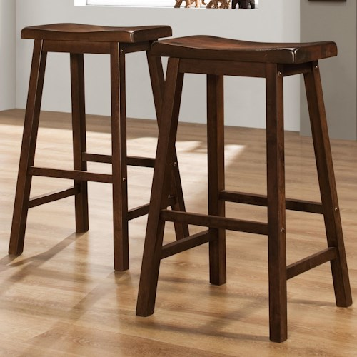Homelegance 5302 29 Inch Stool With Curved Saddle Seat Beck 39 S Furniture Bar Stools