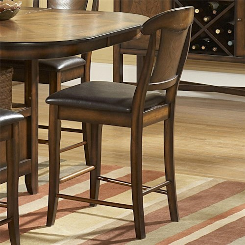 Homelegance 626 Counter Height Chair With Upholstered Seat Value City Furniture Bar Stools