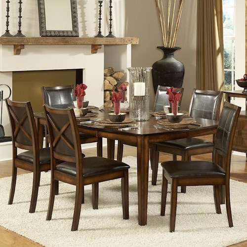 Homelegance Verona 7 Piece Dining Table Set Dream Home Furniture Dining 7