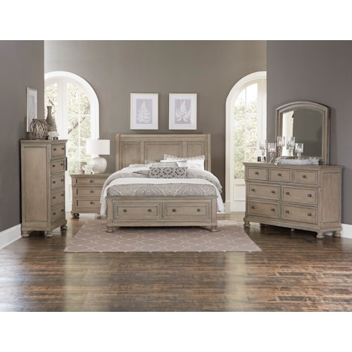 Homelegance 2259gy queen bedroom group boulevard home for Bedroom groups