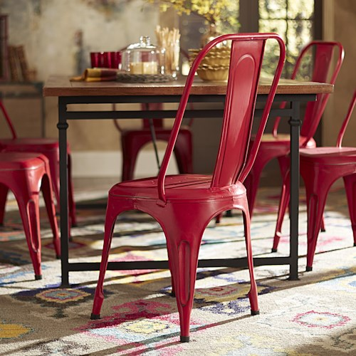 Homelegance amara 5034reds metal side chair northeast for Furniture 0 percent financing