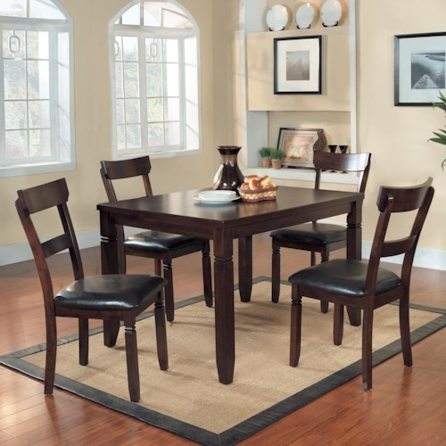 Homelegance Oklahoma 2469 5 Piece Table Chair Set Northeast Factory Direct Dining 5 Piece
