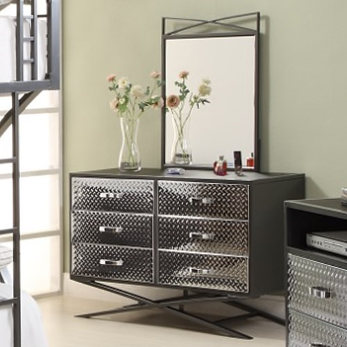 Homelegance Spaced Out Contemporary Dresser And Mirror