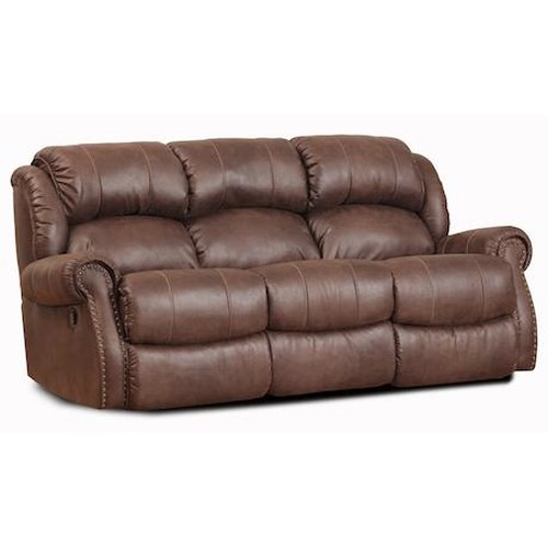 Homestretch 120 22 casual double reclining sofa for Sectional sofas 120