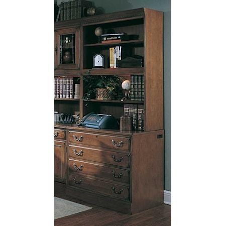Bookcase w/Lateral File Base