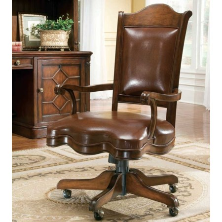 Leather Office Chair with Casters