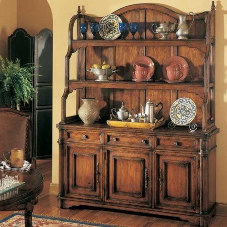 Three Door Three Drawer Buffet & Wood Deck