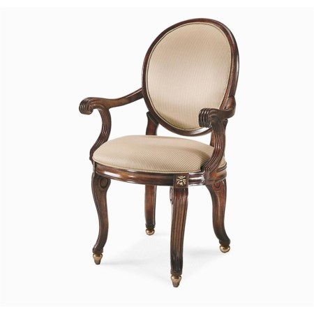 Rounded Back and Seat Chair