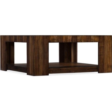 Contemporary Cocktail Table with Bottom Shelf
