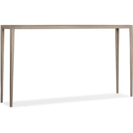 Contemporary White Venetian Marble Console Table