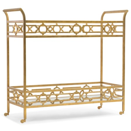Gold Living Room Serving Cart