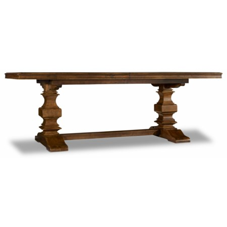 """Trestle Table with 2 18"""" Leaves"""