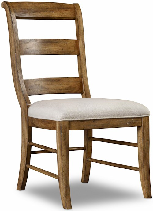 Hamilton home sentinel toffee ladderback side chair with for Furniture 0 percent financing