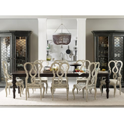 Aid Home Design 6 Piece Dining Set Hooker Furniture Auberose 9 Piece Dining Set With