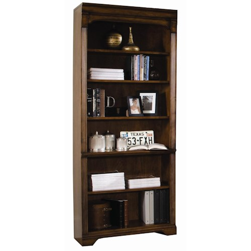 Hooker furniture brookhaven tall bookcase with six shelves for Brookhaven kitchen cabinets price