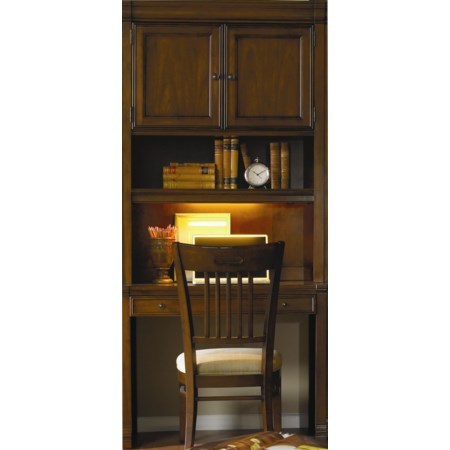 Wall Desk and Hutch Combo