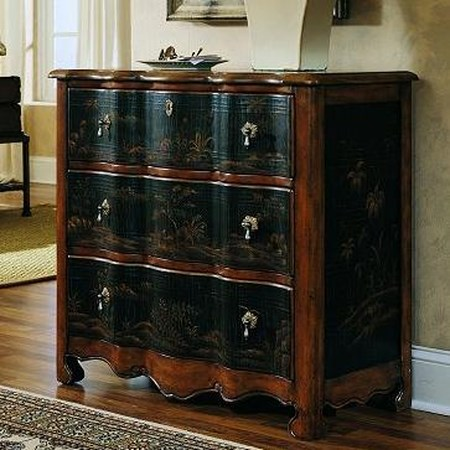 Traditional Two Tone 3 Drawer Serpentine Chest