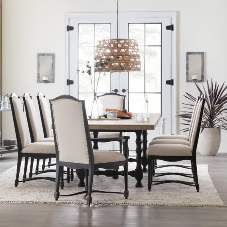 9-Piece Trestle Table and Chair Set