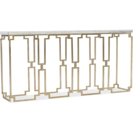 Contemporary Console Table with Marble Top