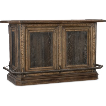 New Braunfels Bar with Bottle Opener and Removable Cutting Board