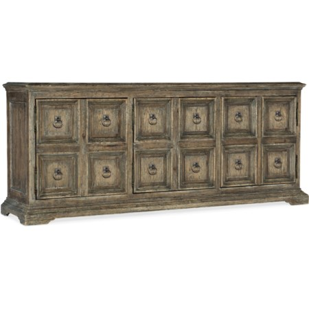 Winchester Media Console with 3-Plug Outlet
