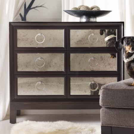 Six-Drawer Chest with Mirrored Front