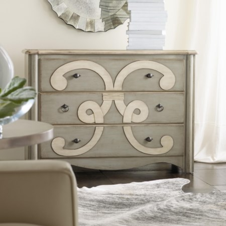 Classique Scroll Chest of 3 Drawers