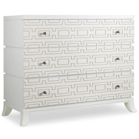 3 Drawer Descanso Chest with Geometric Motif